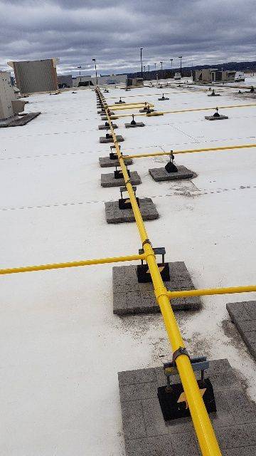 View of yellow color high pressure pipes