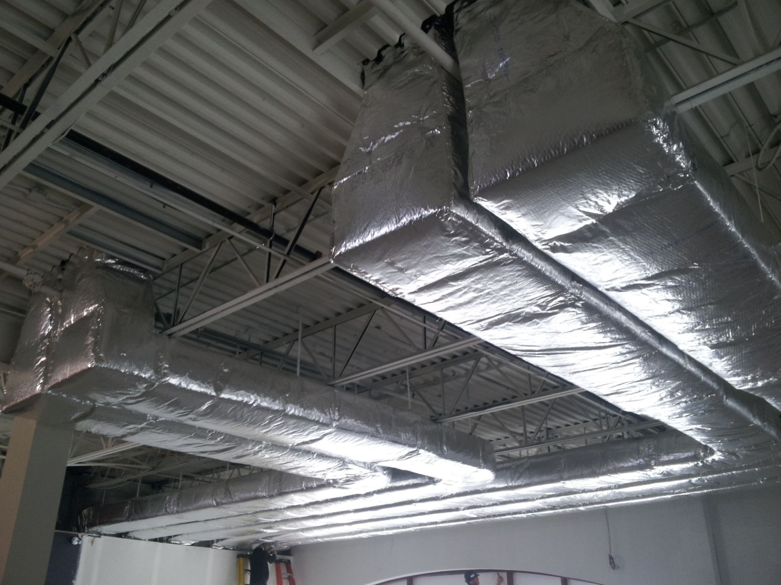 View of air conditioning duct