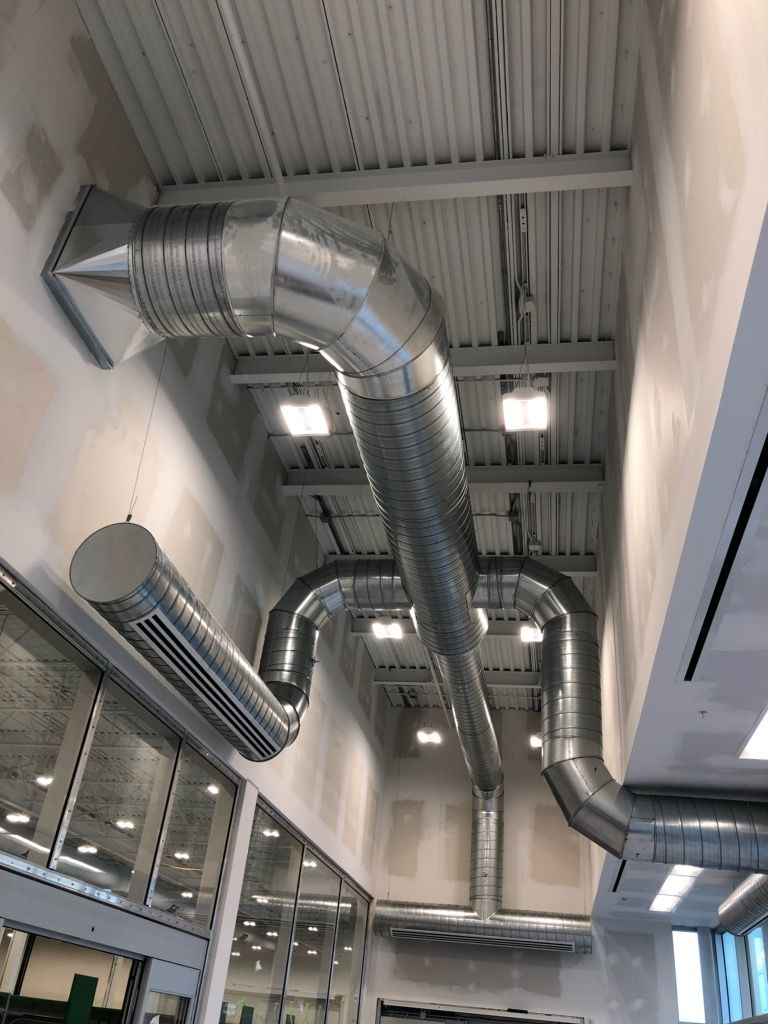 commercial ventilation pipes